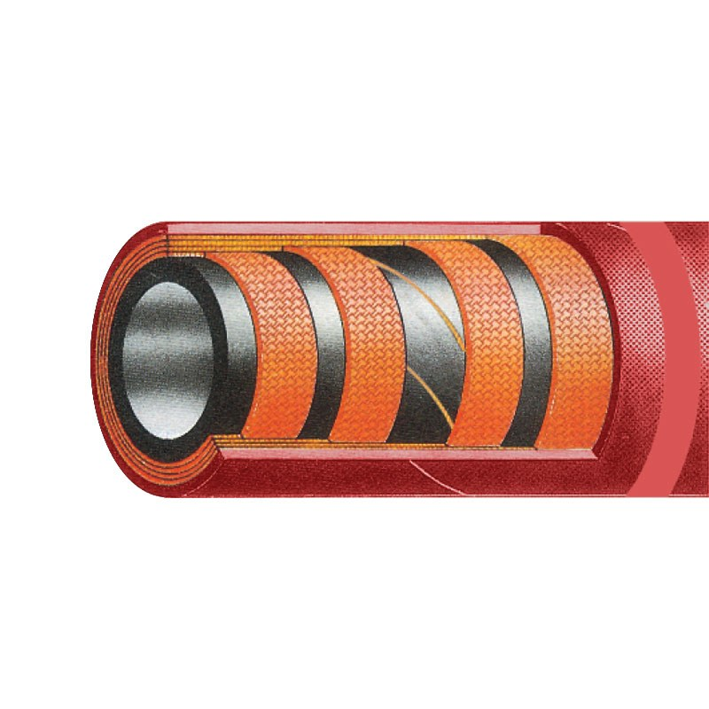 250 PSI Red Petroleum Discharge Hose
